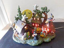Holloween Village - 9  Piece Large Ceramic  from the 1980's