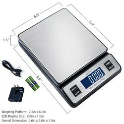 Weighmax Series 2809 90 Lb X 0.1 Oz Digital Stainless Shipping Postal Scale