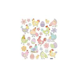 Scrapbooking Crafts Stickers Sticker King Colorful Chickens Eggs Chicks Patterns