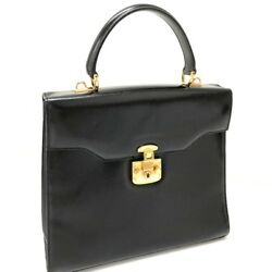 AUTHENTIC GUCCI Tote Bag Hand Bag Black Leather 1274・0192