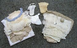 Lot Of 40 Vintage Antique Crocheted Doilies Chair Covers Table Runner Baskets