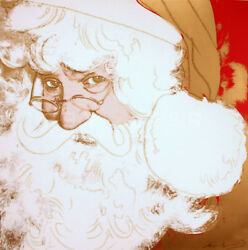 Andy Warhol SANTA CLAUS MINT CONDITION RARE INVESTMENT SIGNED AND NUMBERED RARE
