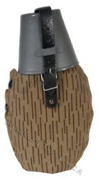 East German Post War Plastic Canteen With Cup And Camo Outer Cover