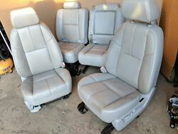 07-14 Cadillac Escalade Ext Avalanche Power Front Rear Seat Gray Oem