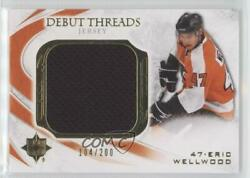 2010 Ultimate Collection Debut Threads Jersey /200 Eric Wellwood Dt-ew Rookie