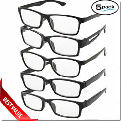 READING GLASSES LENS 5 PACK LOT CLASSIC READER UNISEX MEN WOMEN STYLE BULK LOT $10.95