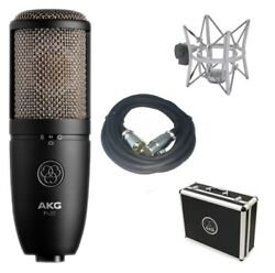 AKG P420 Large Diaphragm Studio Condenser Mic Package + FREE 20' XLR CABLE NEW
