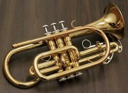 Yamaha Cornet Bb Ycr-2330lll Gold Lacquer With Hard Case Ems W/ Tracking New
