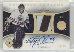 2005-06 Ultimate Collection Endorsed Emblems /35 Ty Conklin Ee-tc Auto