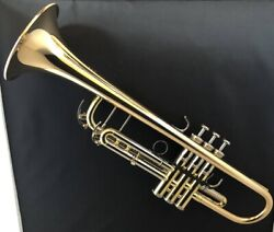 Yamaha Xeno Trumpet Ytr-8335g Gold Brass Clear Lacqer W/ Case Ems Tracking New