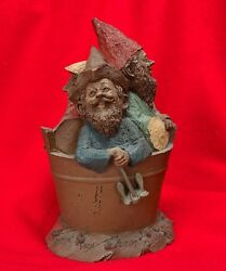 Tom Clark Gnomes In A Bucket - Butch, Wick And Biscuit - 1983 Retired Rare