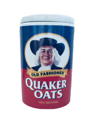Quaker Oats 120th Anniversary 1877-1997 Ceramic Canister Cookie Or Oats Jar