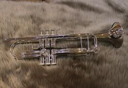 Yamaha Ytr-8335gs Xeno Bb Trumpet Silver-plated Gold Brass W/ Case Ems Tracking