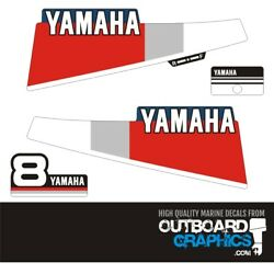 Yamaha 8hp 2 Stroke Outboard Engine Decals/sticker Kit