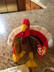 Ty Beanie Baby Gobbles The Thanksgiving Turkey Mwmt 6 Vintage Stuffed Toy