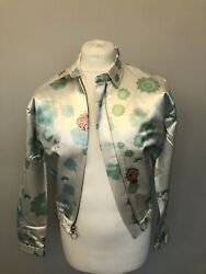 Rainbow Brite By Kitneale Flower Power Bomber Jacket Size Uk8 Rrp Andpound640