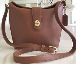NWT COACH VINTAGE BRITISH TAN LEATHER NOTTINGHAM BUCKET PURSE BAG #9948 USA