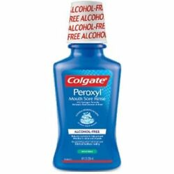 Colgate Peroxyl Alcohol Free Mild Mint Mouth Sore Rinse, 8 Ounce -- 6 per case.