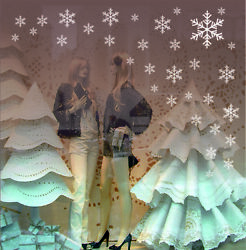 Snowflakes Window Stickers Wall Christmas Winter Decorations