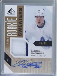2016-17 Sp Game Used Inked Sweaters /35 Auston Matthews Rpa Rookie Patch Auto