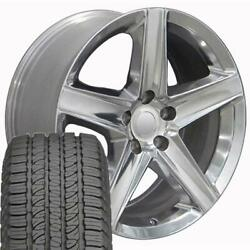 20 Wheel Tire Set Fit Jeep Dodge Grand Cherokee Polished Rims Gy Tires