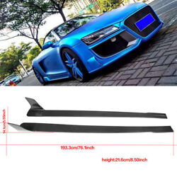 for Audi R8 2008-15 2pcs Carbon Fiber Side Skirts Extensions Protector Body kit