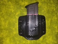 LOOK SUPER NICE LEFT BLACK CARBON KYDEX SINGLE MAG MAGAZINE HOLSTER HAND FITTED