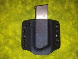 LOOK SUPER NICE BLACK KYDEX SINGLE MAG MAGAZINE HOLSTER HAND FITTED