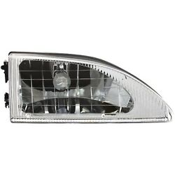 Headlight For 94 95 96 97 98 Ford Mustang Right Crystal With Bulb