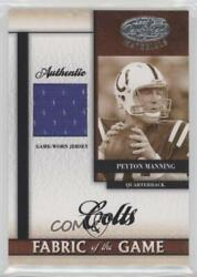 2008 Leaf Certified Materials Fabric Of The Game /99 Peyton Manning Fog-91 Hof