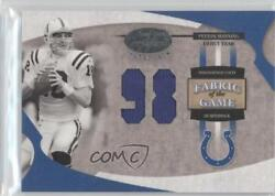 2005 Leaf Certified Materials Fabric Of The Game Debut Year /98 Peyton Manning