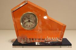 Vintage Ussr Russia Clock Chelyabinsk With Unique Stand Military Moscow Parade