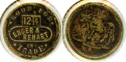 Enger And Rehart 12andfrac12c Saloon Token Steer Pictorial Lakeview Lake Co. Oregon Or