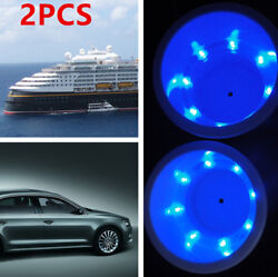2pcs Plastic Cup Drink Holder Popular Style With 8led Blue Light Boat Car Parts