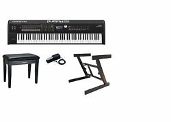 Roland Rd-2000fc Rd-2000 Stage Bundle Stage Piano Pedal Stand Deluxe Bench Cover