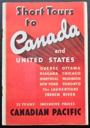 Canadian Pacific Line Rms Empress Of Britain Etc 1936 36p Deluxe Travel Brochure