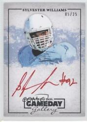 2013 Press Pass Gameday Gallery Gold Red Ink /25 Sylvester Williams Rookie Auto