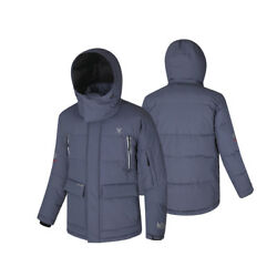 Fuerza Mens Down Wellon Animal-free Fabric Canadian Winter Parka Jacket - Gray M