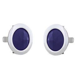 Chrome Metal Ring With Blue Glass Dot Tail Lights Classic Chevy Ford Mopar Pair