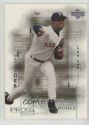 2000 Pros And Prospects High Numbers Without Serial Number Pedro Martinez 127 Hof