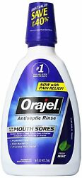 Orajel Antiseptic Mouth Sore Rinse 16 oz (Pack of 4)