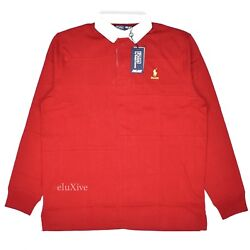 Nwt Palace Polo Logo Menand039s Patchwork Rugby Shirt Red M L Authentic