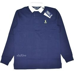 Nwt Palace Polo Logo Menand039s Patchwork Rugby Shirt Navy M L Authentic