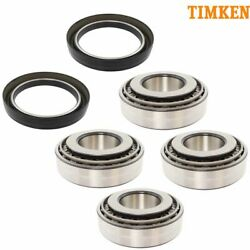 Timken SET423 SET424 10P43750 FL Steering Axle Inner Outer Bearing Seal 6pc Kit