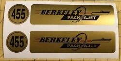 Berkeley Pack A Jet 455 Valve Cover Decal Glastron Carlson Boat Packajet Olds