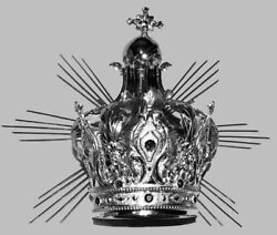 Crown Imperial Mit Strahlen Messing Silber Imperial Crown And Rays Brass Silver
