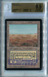 Scrubland #A (Beta) - BGS GEM MINT 9.5 (w/10 sub) MTG *CCGHouse* Magic