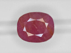 Gii Certified Guinea Ruby 29.63 Cts Natural Untreated Pinkish Red Cushion