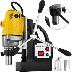 Vevor Md40 Magnetic Drill Press 1-1/2 Boring 2700 Lbs Magnet Force Tapping