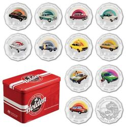 2016 12 Coin Holden Heritage Collection Set Of 12 X 50 Cents Coins In Ram Tin
